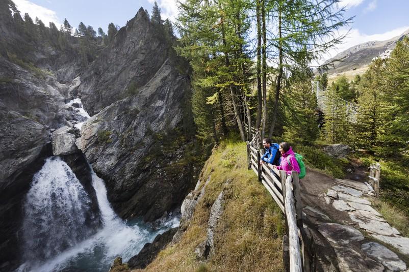 Aussichtsplattform, Aussichtspunkt, Martelltal, Nationalpark Stilfserjoch, Plima, Schlucht, Vinschgau, Wandern